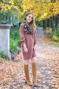 Topshop, Rose Sweater Dress, Sweater Dress, sam edelman, knee high boots, fall sweater, winter sweater, petite sweater dress, petite dress, petite sweater