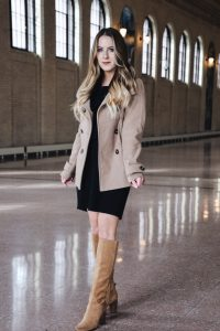 Fashion Blogger Lauren Meyer of the Lo Meyer Blog | Life with Lo reviews the perfect Classic Peacoat Under $50