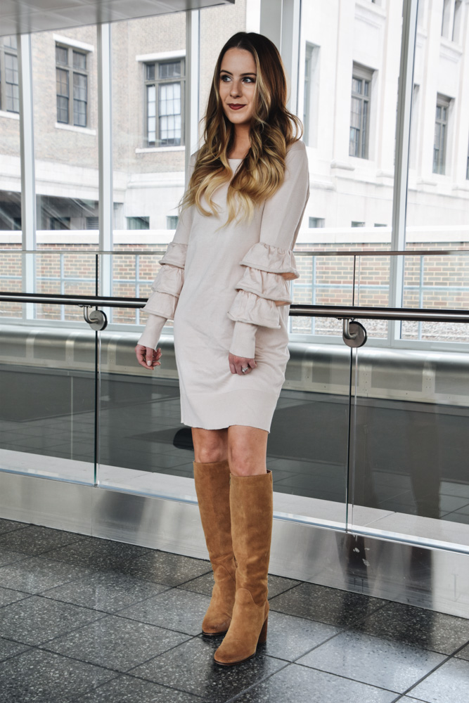 Fashion Blogger Lauren Meyer of the Lo Meyer Blog | Life with Lo discusses a dressy valentine's look, pastel colors and tiered sleeves