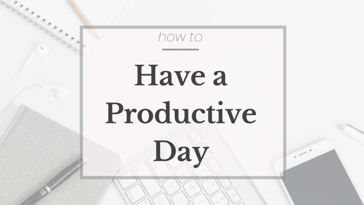 Lifestyle blogger Lauren Meyer of the Lo Meyer Blog | Life with Lo discusses how to have a productive day