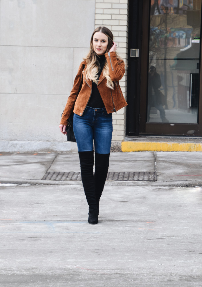 Fashion Blogger Lauren Meyer of the Lo Meyer Blog | Life with Lo discusses the versatile suede jacket