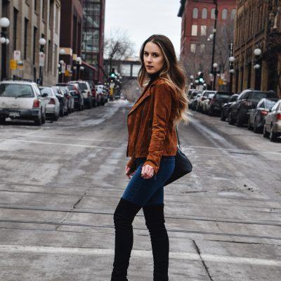 The Versatile Suede Jacket Styled 2 Ways