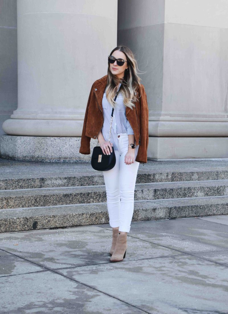 Workwear Outfit That Transitions to the Weekend