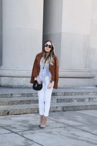 Fashion Blogger Lauren Meyer of the Lo Meyer Blog | Life with Lo share a Workwear Outfit that Transitions to the Weekend | Weekend Style | Weekend Wear | Business Casual