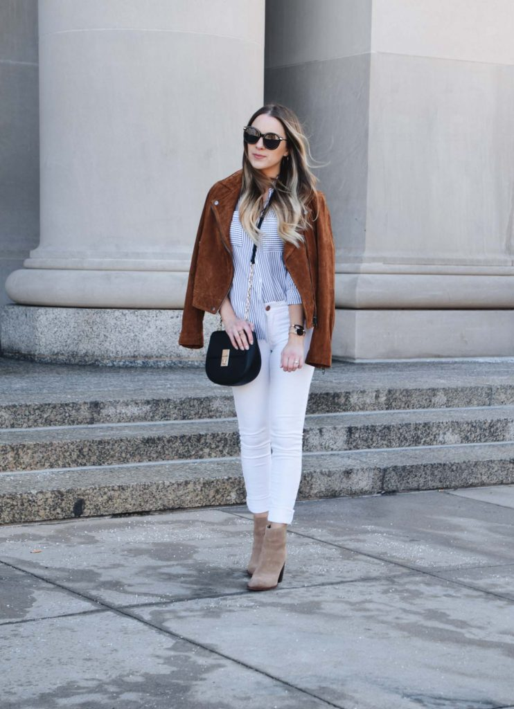 Fashion Blogger Lauren Meyer of the Lo Meyer Blog   Life with Lo share a Workwear Outfit that Transitions to the Weekend   Weekend Style   Weekend Wear   Business Casual