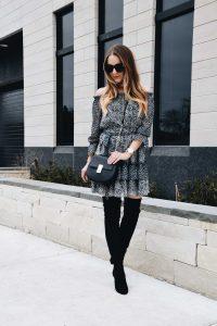 On OR Off the Shoulder Spring Transition Dress | Fashion Blogger Lauren Meyer of the Lo Meyer Blog shares the Best Spring Transition Dress for Work & The Weekend!