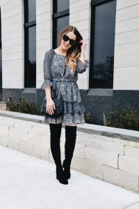 On OR Off the Shoulder Spring Transition Dress   Fashion Blogger Lauren Meyer of the Lo Meyer Blog shares the Best Spring Transition Dress for Work & The Weekend!