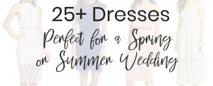 Fashion Blogger Lauren Meyer of The Lo Meyer Blog shares 25+ Dresses Perfect for a spring or summer wedding