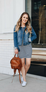 Fashion Blogger Lauren Meyer shares 3 ways to style a tshirt dress for 3 separate occasions! Loved how much info she gave in this post!