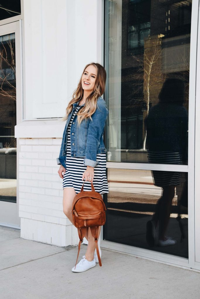 Popular Style Blogger Lauren Meyer Shares The Most Comfortable T-Shirt Dress & How to Style It