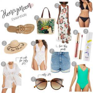 Style Blogger Lauren Meyer of The Lo Meyer Blog shares 12 Honeymoon Essentials for a Sunny Destination