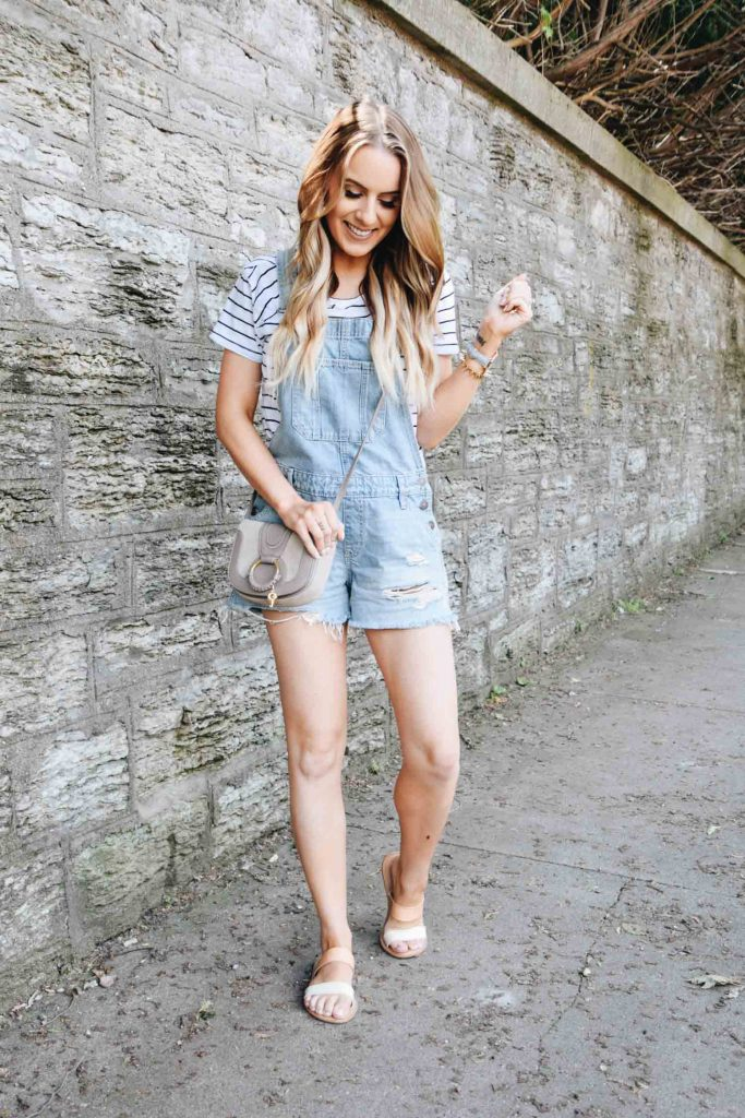 Minneapolis style blogger Lauren Meyer of The Lo Meyer Blog shares How to Style Denim Overalls for an Easy Summer Look