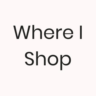 Where I Shop