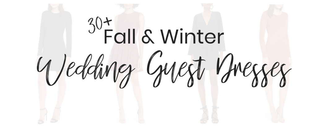Popular Style Blogger Lauren Meyer of The Lo Meyer Blog shares 30+ chic and affordable fall and winter wedding guest dresses