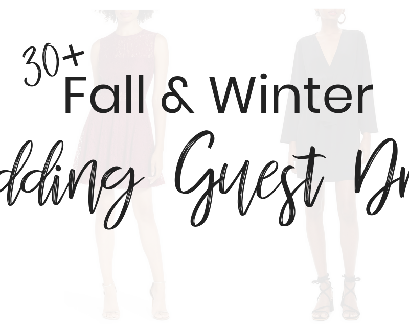 30+ Chic & Affordable Fall and Winter Wedding Guest Dresses