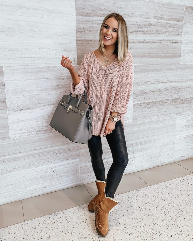 20 + Ways to Style Faux Leather Leggings