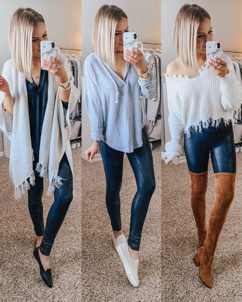 83e0eb52694c7 20+ Ways to Style Spanx Faux Leather Leggings Style Blogger Lauren Meyer  shares 20+