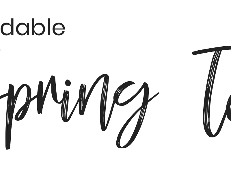 50+ Affordable Spring Tops! Style Blogger Lauren Meyer shares 50+ Affordable Spring Tops