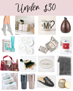 Holiday Gifts under $30   gift guide under $30   Christmas Gifts under $30   Stocking Stuffers   Style Blogger Lauren Meyer shares a holiday Gift guide under $30