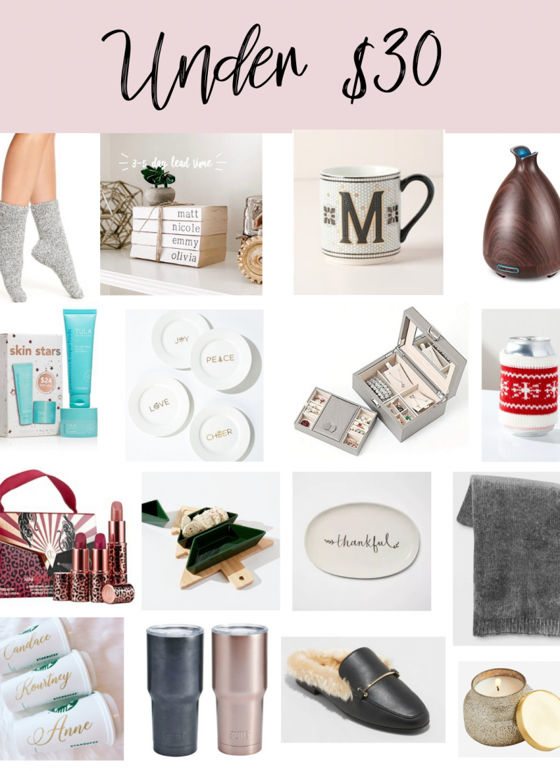 Holiday Gifts under $30 | gift guide under $30 | Christmas Gifts under $30 | Stocking Stuffers | Style Blogger Lauren Meyer shares a holiday Gift guide under $30