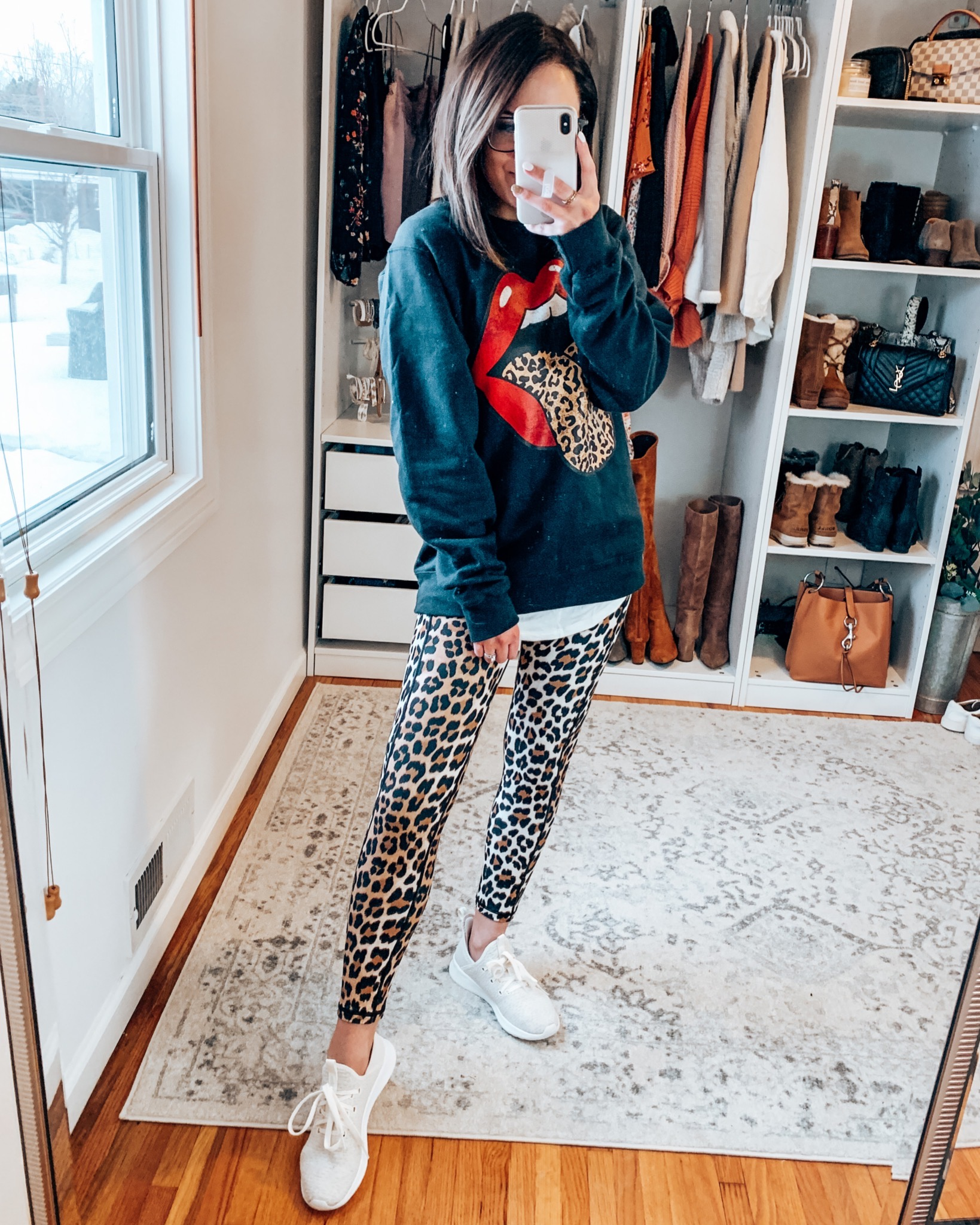 Leopard Print Graphic Tee | Style Blogger Lauren Meyer shares Spring Transition Outfit Ideas