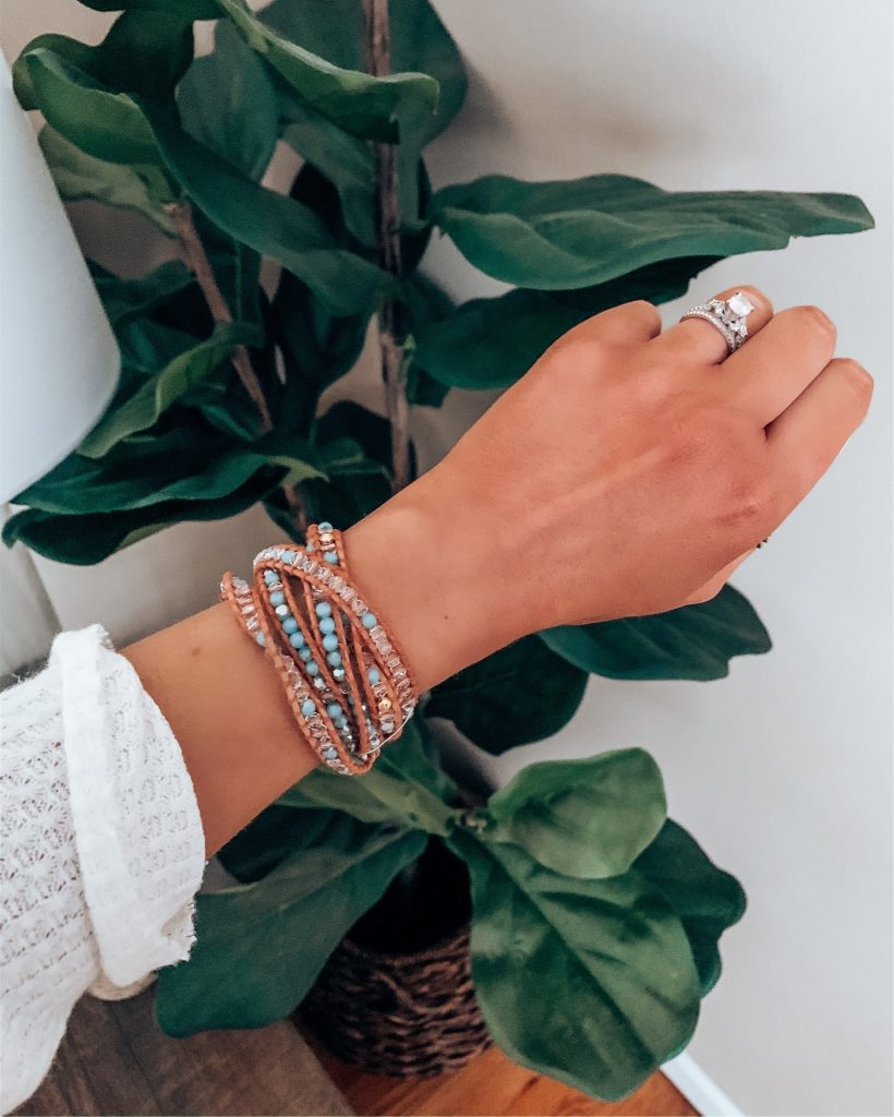 Victoria Emerson Wrap Bracelets | Style Blogger Lauren Meyer shares Spring Transition Outfit Ideas