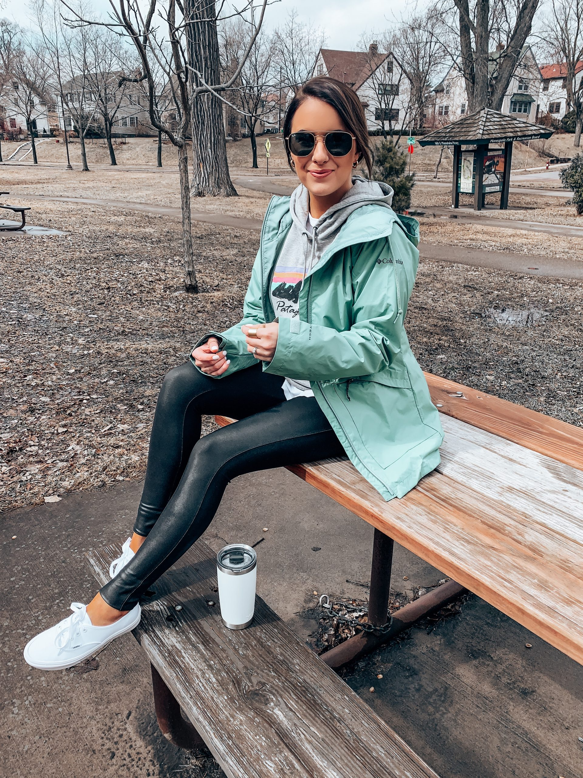 Affordable Spring Gear , Rain Jacket & Graphic Sweatshirt | Style Blogger Lauren Meyer shares Affordable Spring Gear from Backcountry