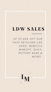 LABOR DAY WEEKEND SALES || Style blogger Lauren Meyer of The Lo Meyer Blog shares the best labor day weekend sales 2020